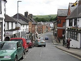 Knighton, Powys - Image: Knighton Broad Street geograph.org.uk 876640