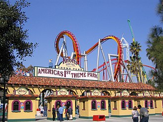 Buena Park, California - The entrance to Knott's Berry Farm in Buena Park
