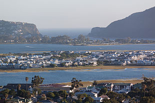 View of Knysna, the Lagoon and Thesen Island
