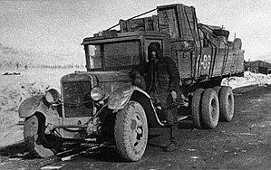 R504 Kolyma Highway - A ZIS-6 Lorry in 1938