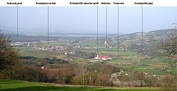 View of the Municipality of Kostanjevica na Krki from the village of Male Vodenice