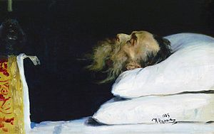 Nikolay Kostomarov - Kostomarov in His Coffin (by Ilya Repin)