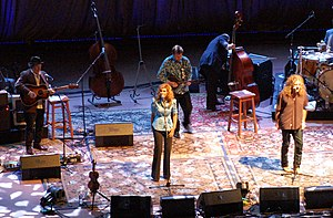 "The Battle of Evermore - Alison Krauss and Robert Plant perform ""The Battle of Evermore"" at Denver's Red Rocks, 21 June 2008"