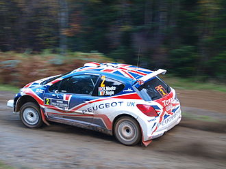Rally Scotland - Kris Meeke in the Peugeot 207 on SS4 of the 2010 Rally Scotland.
