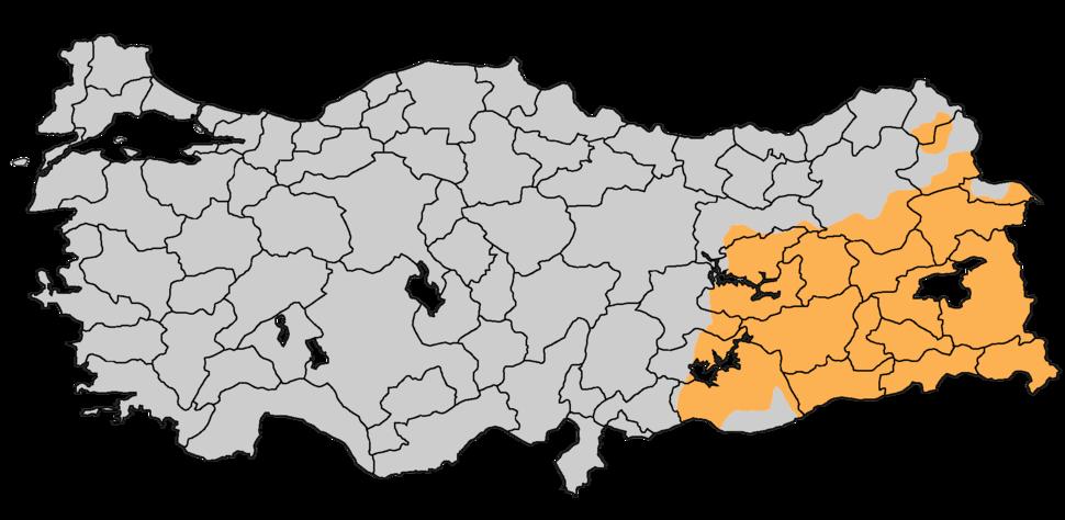 Kurdistan of Turkey (CIA)