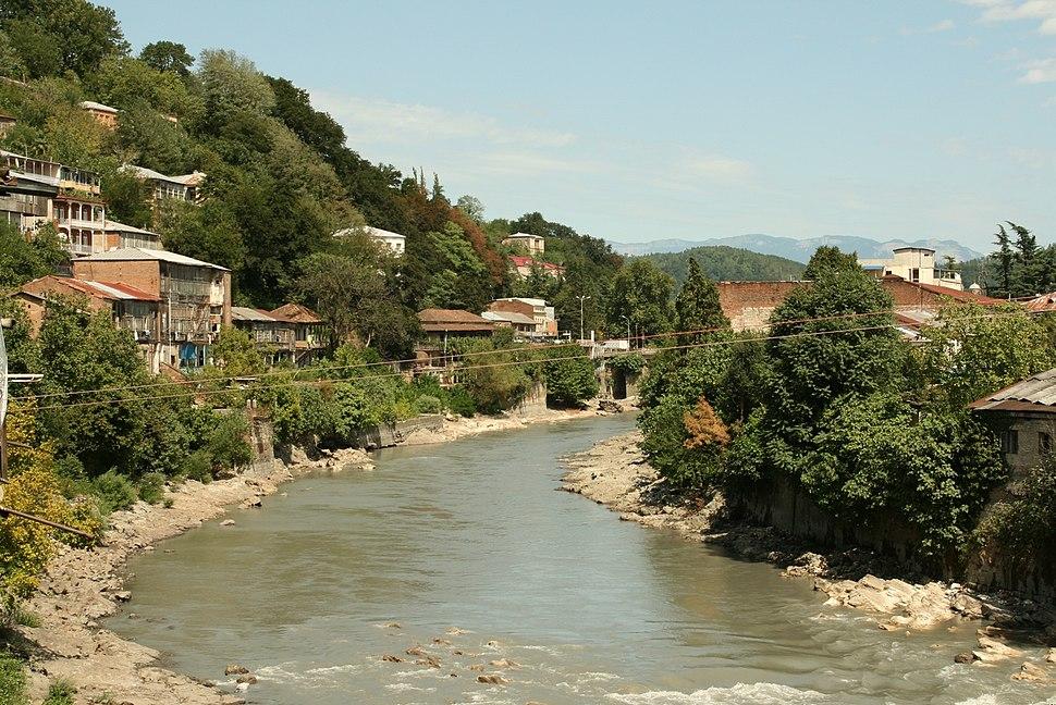 Kutaisi and the river Rioni
