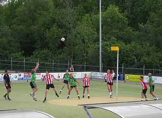 Korfball - Outdoor korfball match in the Netherlands