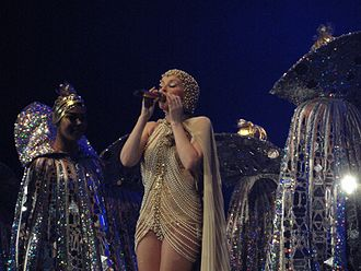 On a Night Like This - Minogue performing the song during her 2011 tour, Aphrodite: Les Folies.