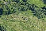 Légi fotón Kisfalud templomának romja, Mindszentkálla.jpg