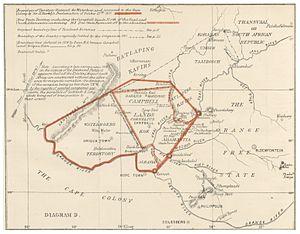 Griqualand West - Map (1873)