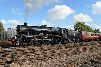 LMS Jubilee Class - Image: LMS 45690 Leander at Barrow Hill Roundhouse