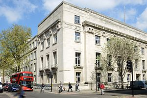 Keppel Street - The London School of Hygiene & Tropical Medicine, at the corner of Keppel Street and Gower Street