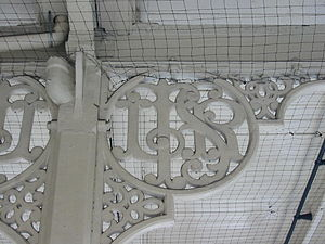London, Tilbury and Southend Railway - LTSR canopy support at East Ham (no longer served by main line trains)