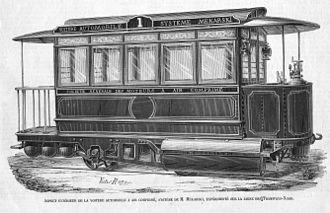 Pneumatic motor - Image: L Illustration Tramway Mékarski des Tramways Nord (Novembre 1875)