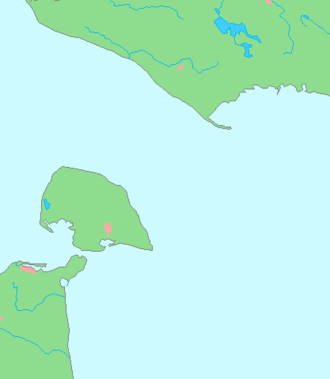 Fehmarn Belt - The Fehmarn Belt. The German island of Fehmarn is located to the south and the Danish island of Lolland to the north