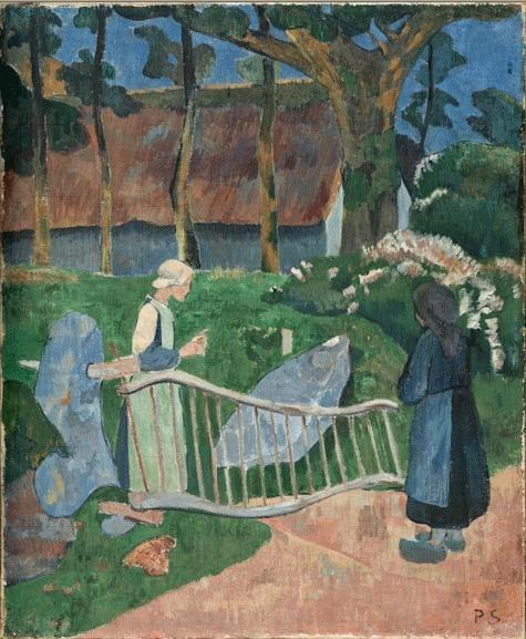 La barrière fleurie, Le Pouldu 1889 Paul Serusier