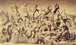 Mannerism - Copy after lost original, Michelangelo's Battaglia di Cascina, by Bastiano da Sangallo