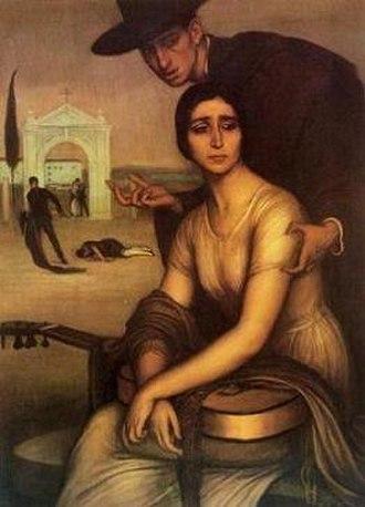 Málaga - La malagueña (1919) by Julio Romero de Torres