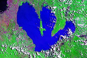 Satellitenbild der Laguna de Bay