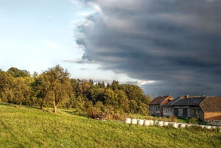 Rural Landscape in Puchenau, Austria (HDR)
