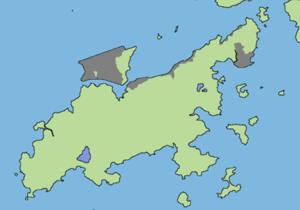 Chek Lap Kok - Map showing the reclaimed land of Lantau Island, Lam Chau and Chek Lap Kok.