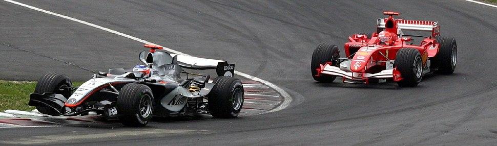 Lap4 Canada2005 McLaren and Ferrari