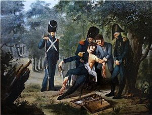 Dominique Jean Larrey - Lerrey amputating the arm and leg of colonel Rebsomen at Hanau (1813).