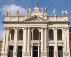 The Basilica of St John Lateran, cathedral of the diocese of Rome and so of the Pope