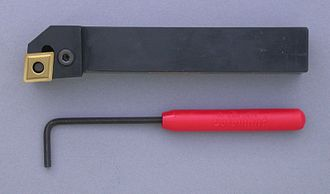 Tipped tool - Carbide tipped turning tool and wrench