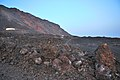 Lava, slag and sand fields between volcanoes of Teneguia and El Aljibe beach, La Palma, Canary Islands 2015 - panoramio.jpg