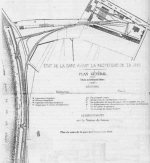 Saint-Étienne to Andrézieux Railway - Station at Coteau port before 1857