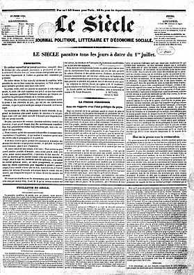 Image illustrative de l'article Le Siècle (journal)