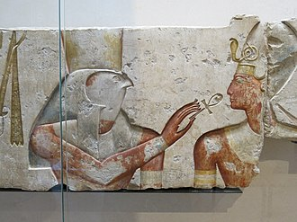 Ankh - Image: Le roi Ramsès parmi les dieux (Louvre, B 13)