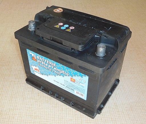 Lead-acid automotive battery, 55 Ah