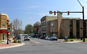 Lenoir, North Carolina - Main Street in downtown Lenoir