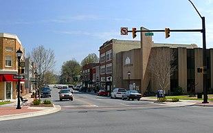 Main Street in downtown Lenoir
