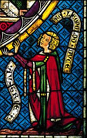 Leopold I, Duke of Austria - A stained glass portrait of Leopold I of Austria, Königsfelden Monastery, Windisch, Switzerland