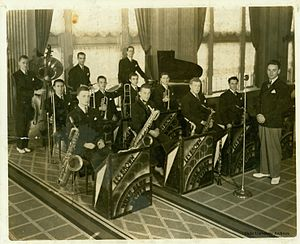 Duke Ambassadors - Les Brown and His Blue Devils performing in the 1930s; Courtesy of the Duke University Archives.