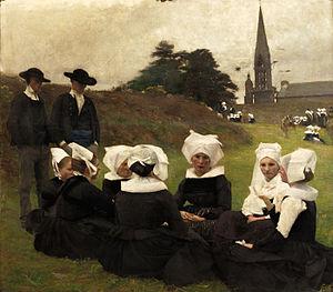 Pascal Dagnan-Bouveret - Image: Les Bretonnes au Pardon Pascal Adolphe Jean Dagnan Bouveret