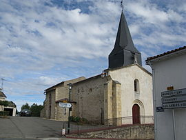 The church in Les Pineaux