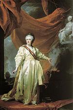 Portrait de    Catherine II de Russie    par Dmitri Levitsky, années 1780