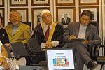 Bras�lia - L�deres budista, o representante do Centro Isl�mico e bispo cat�lico. Foto: Elza Fi�za/ABr