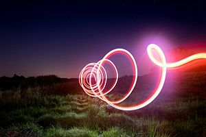 Light painting - Light Painting Screw, by Karsten Knöfler