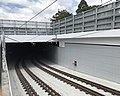 Light rail tunnel at the GCUH station, Gold Coast.jpg