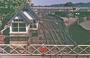 Lincoln Central railway station - The old layout and signalling, seen in 1977