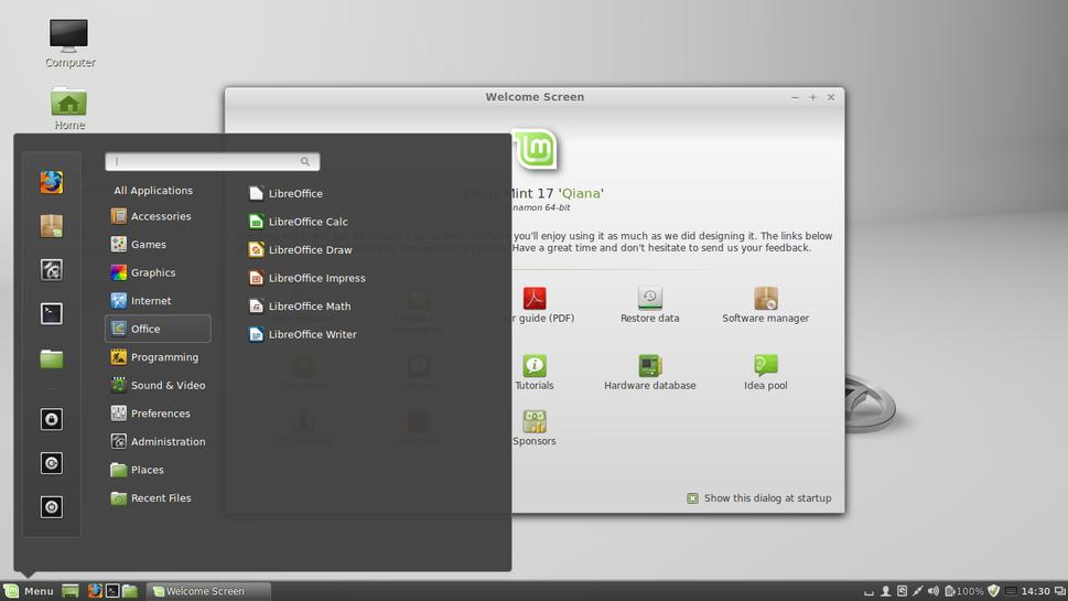 Linux Mint 17 (Qiana) Cinnamon