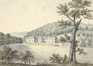 Llangedwyn - Llangedwyn hall, 1795