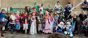 Princess Zelda - Attendees of Otakon 2012 dressed up as Zelda and Link through The Legend of Zelda series