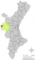 Localització de Villargordo del Cabriol respecte del País Valencià.png