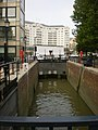 Lock, entrance into Chelsea Harbour - geograph.org.uk - 1526533.jpg